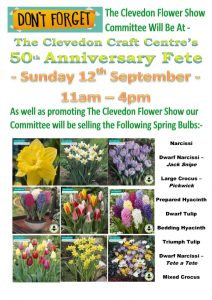 Information about what we are doing at the Clevedon Craft Centre Fete Sunday 12th Sept.